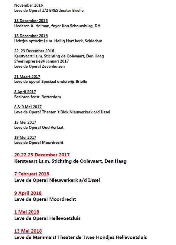 agenda 5 januari 2018